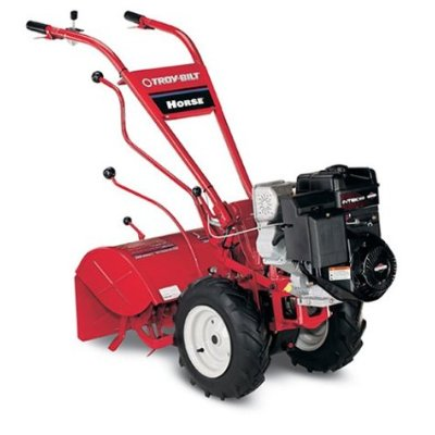 Garden tiller reviews:  Troy Bilt Horse rototiller