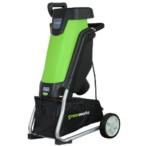 Electric chipper shredder greenworks chipper