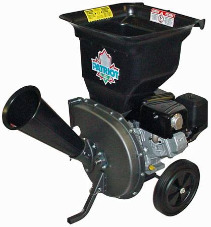 Wood chipper shredder: Patriot 10Hp model