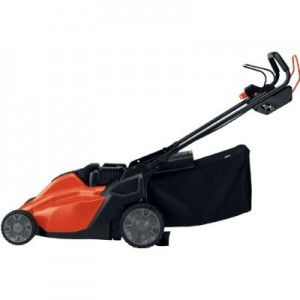 Black and Decker SPCM1936 cordless lawn mower side view