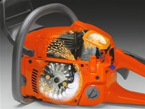 Husqvarna 450 chainsaw air injection