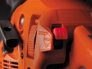 Husqvarna 450 chainsaw easy start system