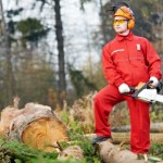 Chain saw safety worker